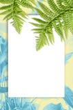 Blumenhintergrund mit grünen exotischen Blättern Lizenzfreies Stockfoto