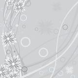 Blumenhintergrund mit grunge Blume Stockfotografie