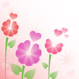 Blumenhintergrund mit Inneren Lizenzfreies Stockbild