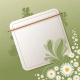 Blumenhintergrund mit leerer Anmerkung Stockbild