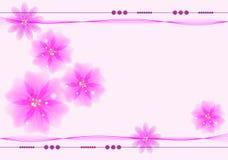 Blumenhintergrund mit Platz für Text Stockfotografie
