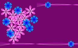 Blumenhintergrund mit Platz für Text Stockfoto