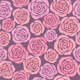 Blumenhintergrund mit rosafarbenen Rosen Lizenzfreie Stockfotografie