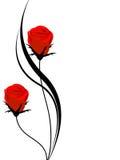 Blumenhintergrund mit roten Rosen, Gestaltungselement Stockfotos