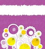 Blumenhintergrund mit Textplatz Stockfotografie