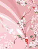 Blumenhintergrund-Serie lizenzfreie abbildung