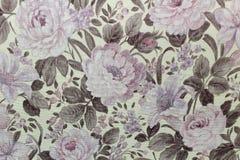 Blumenhintergrund Tapete auf der Wand Stockbild