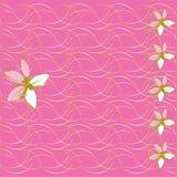 Blumenhintergrund- und Muttertageskarte vektor abbildung