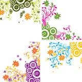 Blumenhintergrund, Vektor Stockfotos