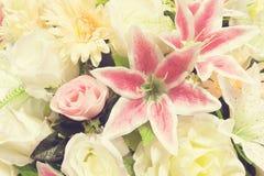 Blumenhintergrund - Weinlese Stockfoto