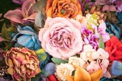 Blumenhintergrund - Weinleseeffektart Lizenzfreie Stockfotos