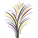 Blumenhintergrundgraphikvektorillustrationsdesign-Hintergrund Blatt mit Blumen; lizenzfreie abbildung