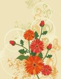 Blumenhintergrundserie lizenzfreie abbildung