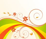 Blumenhintergrundvektor lizenzfreies stockfoto