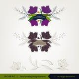 Blumenhochzeitsdesign und -elemente Stockfotografie