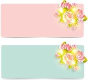 Blumenhochzeitshintergrund mit Rosen lizenzfreie abbildung