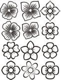 Blumenikonen Lizenzfreies Stockfoto
