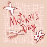 Blumenillustration des glücklichen Mutter ` s Tagesvektors Schöne Konzeptkarte für das Feiern Mutter ` s von Tag stock abbildung