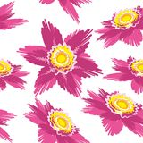 Blumenillustrations-Hintergrundfliese Stockfoto