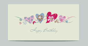 Blumeninnerkarten Stockbild
