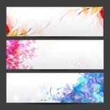 Blumenjahreszeithintergrundfahnen Lizenzfreie Stockbilder