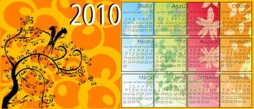 Blumenkalender Stockfotos