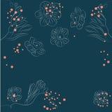 Blumenkarte Stockfotografie