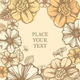 Blumenkarte Lizenzfreies Stockbild