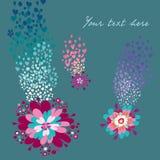 Blumenkarte Lizenzfreies Stockfoto