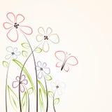 Blumenkarte Lizenzfreie Abbildung