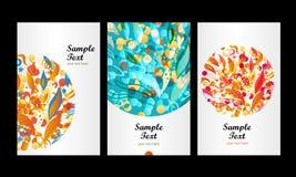 Blumenkarte Stockfotos