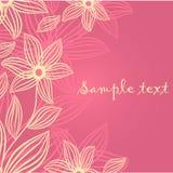 Blumenkarte mit abstrakten Blumen. Lizenzfreie Stockfotos