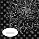 Blumenkarte mit Chrysantheme Lizenzfreies Stockfoto
