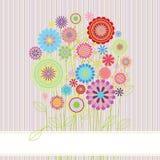 Blumenkarte mit Kopienraum Lizenzfreie Abbildung