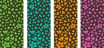Blumenkarten, Vektorillustrationskarte lizenzfreie abbildung