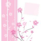 Blumenkartenauslegung Stockfotografie