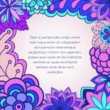 Blumenkarteneinladung Lizenzfreies Stockbild