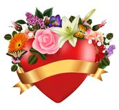 Blumenkartenschablone stock abbildung