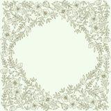 Blumenkartenschablone Stockbilder