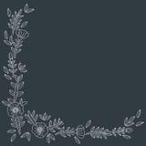 Blumenkartenschablone Lizenzfreie Stockfotos