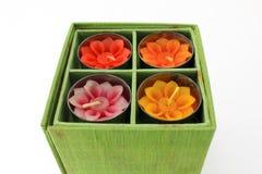 Blumenkerze in der Kassette. Lizenzfreie Stockbilder
