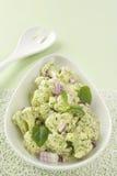 Blumenkohl-Salat mit Spinat Pesto Stockfotografie