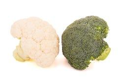 Blumenkohl und Brokkoli Stockfoto