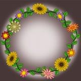 Blumenkranzillustrationen lizenzfreie stockbilder