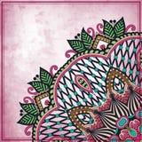 Blumenkreisdesign auf Schmutzhintergrund mit Lizenzfreie Stockfotografie