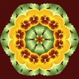 Blumenkreismuster mandala r Stock Abbildung
