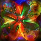 Blumenkuß Stockbild