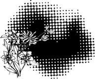 Blumenkunst lizenzfreie abbildung