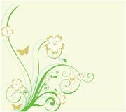 Blumenkurvenhintergrund Lizenzfreie Stockbilder