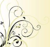 Blumenkurvenhintergrund Stockbild